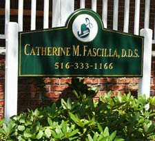Exterior sign at Dr. Fascilla's office